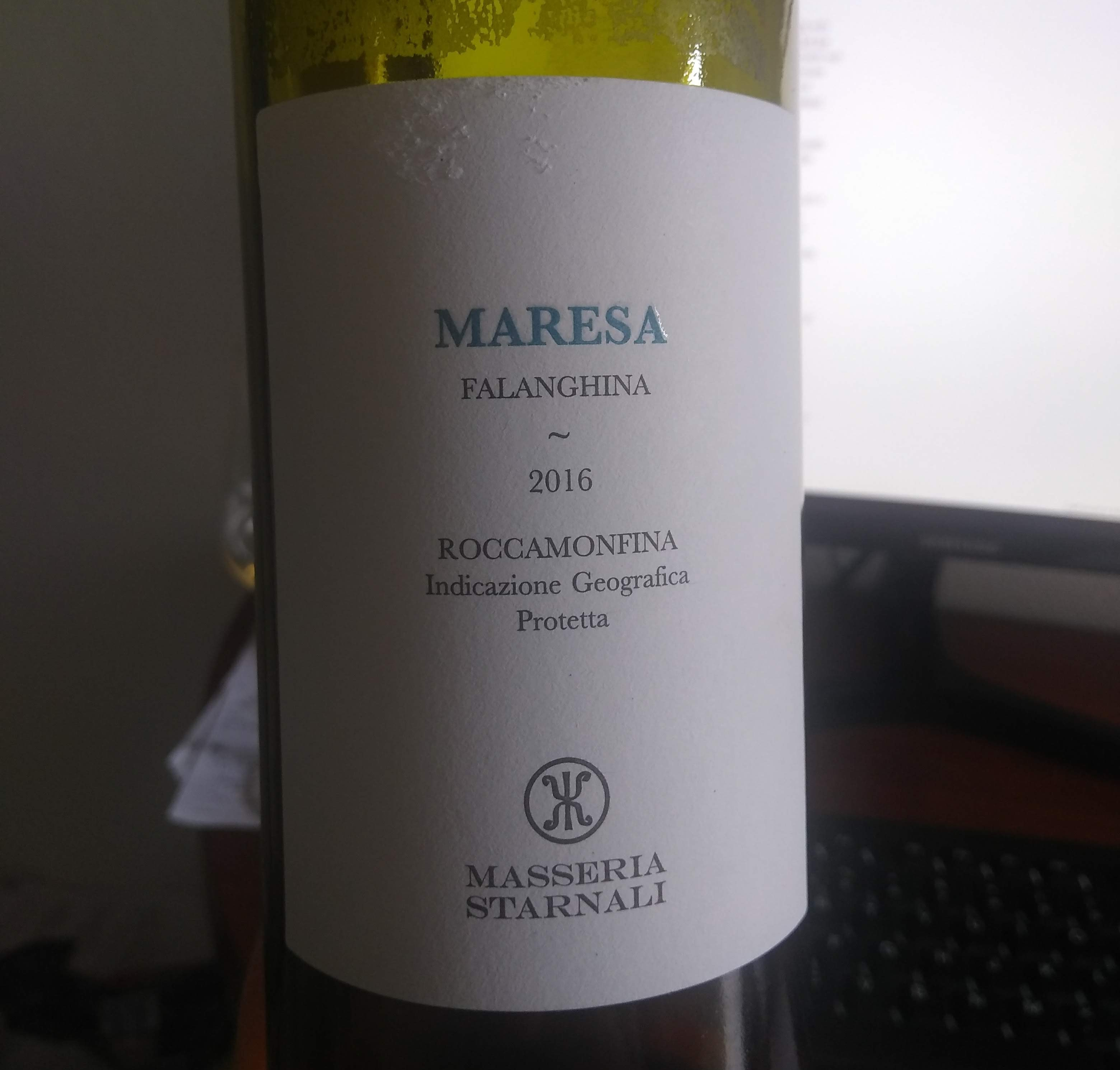 """Maresa"" 2016 from Masseria Starnali. Orange or Not?"